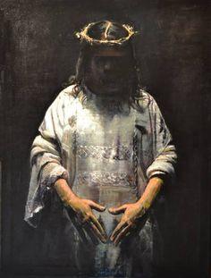 """Saatchi Art Artist Marco Ortolan; Painting, """"Jesus ( SOLD )"""" #art"""