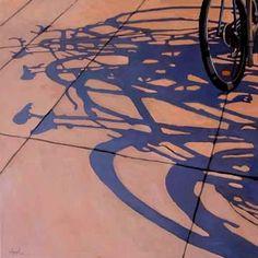 Bicycles & Shadows, by artist Linda Apple