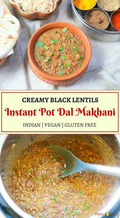 Authentic Punjabi Dal Makhani (Madras Lentils) made in Pressure Cooker or Instant Pot. This restaurant style Dal Makhani made in the pressure cooker is rich, creamy and flavorful. Lentil Recipes, Veg Recipes, Curry Recipes, Cooker Recipes, Indian Food Recipes, Whole Food Recipes, Vegetarian Recipes, Healthy Recipes, Vegetarian Cooking