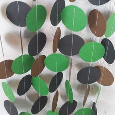 Camo Paper Garland - Boy's Birthday Party Decor - Camouflage Party Garland - Birthday Banner by LucyBirdy on Etsy https://www.etsy.com/listing/216464296/camo-paper-garland-boys-birthday-party