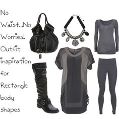 """No Waist...No Worries! Outfit inspiration for Rectangle body shapes"" by isabeldefelice on Polyvore"