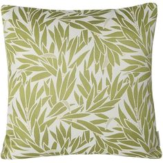 Mika Home Jacquard Bamboo Leaf Pattern Accent Throw Pillow Case Spring... ❤ liked on Polyvore featuring home, home decor, throw pillows, ivory throw pillows, green toss pillows, green home accessories, green accent pillows and bamboo home decor