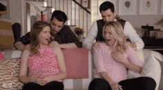 The best episode of Playing House with Lennon Parham and Jessica St. Clair, and the Property Brothers Drew and Jonathan Scott. Sleepless in Pinebrook.