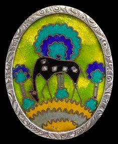 Arts & Crafts Deer Brooch - Tadema Gallery