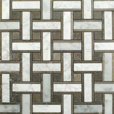 Yarn London Fog 12-1/2 in. x 12-1/2 in. x 10 mm Polished Marble Mosaic Tile