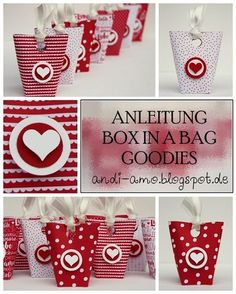 Eine Box voller Liebe! Süße DIY-Tütchen für kleine Geschenke >>andi-amo: Anleitung Box in a bag Goodie Stampin Up Designpapier Liebe Grüße