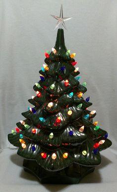 19 Ceramic Christmas Tree W/Plain Base by ArtsonFirePlano on Etsy