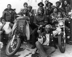"""weformlikevoltron: """" Black motorcycle clubs emerged throughout Cali in the & and fought against racism and stereotypes of the day for their right to live the outlaw biker lifestyle — like the. Biker Clubs, Motorcycle Clubs, Motorcycle Adventure, Bobber Motorcycle, Baggers, Choppers, Ford Gt, Audi Tt, Livingston"""