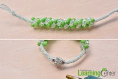 make the rest part of the green Kumihimo bead bracelet