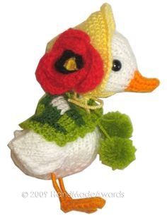 Adorable Mom GOOSE with EASTER Eggs Pdf Email by HandMadeAwards