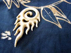 Goreng 65mm Brown Carved Bone Pendant by Indounik on Etsy, $10.00 #bonecarving #Bali #jewelrysupplies