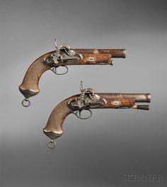 Evolució molt tardana del Pany Miquelet adaptat a la pistola de pistó enlloc de la pedra-foguera (Sílex). Datades el 1856.