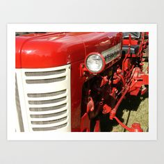 Vintage International Tractor Art Print by Andrea Jean Clausen - $20.80