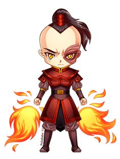 This is the fourth character in my chibi series based on amazing Avatar TLA. I drew my favorite character - prince Zuko ^^ I wanted to give him that typical angry look, so I used dark l...