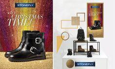Le nostre vetrine si sono vestite a festa! Venite a trovarci in tutti i nostri punti vendita e corner per scoprire cosa vi riserviamo per Natale: scopri qui dove trovarci! >> http://www.stonefly.it/it/3/negozi/negozio-scarpe-italia.html