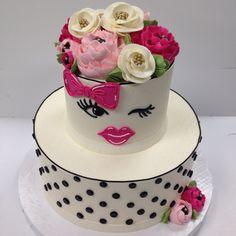 Kate Spade inspired 100% Buttercream cake!