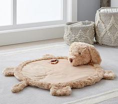 """This is a New Pottery Barn Kids Lamb Plush Play Mat and Lamb Thumbie. This play mat has a """"K"""" monogram. Thumbie: made of soft polyester velboa. Play mat: made of polyester. Puppy Nursery Theme, Dog Nursery, Boy Nursery Themes, Elephant Nursery, Baby Boy Nurseries, Nursery Ideas, Nursery Decor, Pottery Barn Kids, Nursery Rocker"""