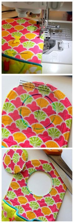 A sewing tutorial and pattern for a DIY fabric phone charging station.