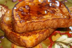 Mostly Homemade Mom: Pumpkin Pie French Toast it was oh so yummy!  Not as crispy but good!