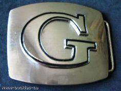 INITIAL LETTER NAME G CHROME BELT BUCKLE BELTS BUCKLES