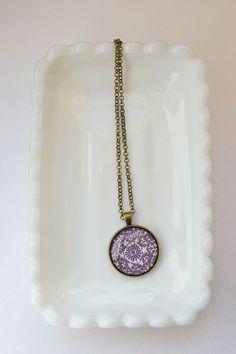 Gypsy Purple Medallion Patterned Pendant by GypsyMindShop on Etsy