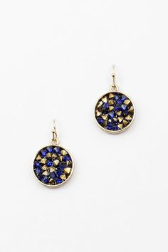 Petite, Delish Crystal Filled Earrings. Hand Filled variations make each one a one-of-a-kind.