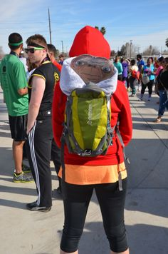 E.T. - www.Awesome80sRun.com Best Running Costumes with Cobra Kai in the background