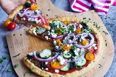 Spelt n' Cauliflower Crust Pizza -  you'll be amazed at the light texture and hidden veggies are a great plus for all the family!