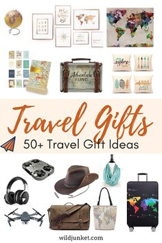 Best Travel Gifts — Gift Ideas for Travel 2019 : A curated list of unique travel gifts and best gift ideas for travel: from trendy tech gadgets to vintage home decor items and kids travel fun. Best Travel Gifts, Best Gifts, Gift For Someone Traveling, Travel Style, Travel Fashion, Travel With Kids, Fun Travel, Travel Items, Travel Advice