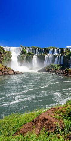One of the world's most incredible waterfalls, Iguazu Falls sits on the border of Brazil and Paraguay #waterfall