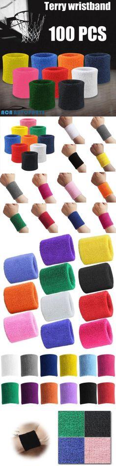 Wristbands 169276: 100Pcs Terry Wristband Sport Cotton Sweatband Wrist Sweatband Mixture Color Gym -> BUY IT NOW ONLY: $98.56 on eBay!