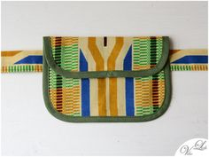 HIP BAG with BELT tribal pattern kente african fabric by VibeLich
