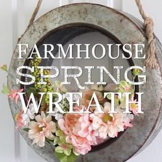 """13.2k Likes, 409 Comments - Hobby Lobby (@hobbylobby) on Instagram: """"Welcome #spring with a #farmhouse inspired wreath! #regram @thecraftpatch #springwreath…"""""""