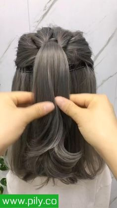 Easy Hairstyles For Long Hair, Braids For Short Hair, Cute Hairstyles, Hairstyles Videos, Easy Wedding Guest Hairstyles, Heatless Hairstyles, Short Hair Styles Easy, Medium Hair Styles, Hair Upstyles