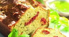 Recette de #cake au #pesto et aux #tomates séchées