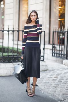 622120ae1d3951 Off-the-shoulder street style Fall 2015 Outfits, Work Outfits, Casual  Outfits