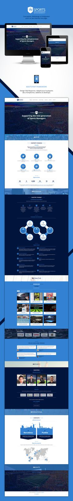 Ux-Ui Design d'un Site One Page ! #webdesign #intégration #bootstrap
