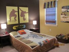 skateboard decorations room | Skateboarding room..... - Boys' Room Designs - Decorating Ideas ...
