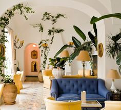 The Lounge at Le Sirenuse, Positano, Italy