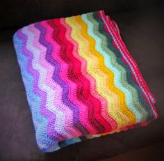 Rainbow Ripple Blanket, crochet, Stylecraft Special DK