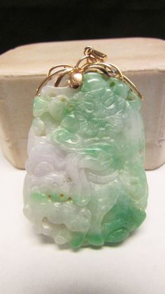 Vintage estate 14k beautiful translucent by alohamemorabilia vintage estate 14k beautiful translucent by alohamemorabilia vintage jade jewelry pinterest beautiful vintage and by aloadofball Gallery