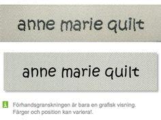 Offwhite bandfärg och svart textfärg http://labelsandribbon.se/vavda-namnband-namnlappar-etiketter/standard