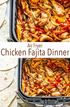 It's no secret that I love my air fryer, and it's as easy as ever to use it to make delicious chicken fajitas with onions and peppers! It's no secret that I love my air fryer, and it's as easy as ever to use it to make delicious chicken fajitas with … Air Fryer Oven Recipes, Air Frier Recipes, Air Fryer Dinner Recipes, Air Fryer Chicken Recipes, Air Fryer Recipes Gluten Free, Air Fryer Recipes Potatoes, Air Fryer Recipes Vegetables, Air Fryer Chicken Tenders, Air Fryer Chicken Wings