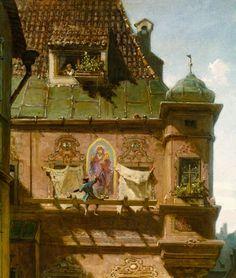 Bild:  Carl Spitzweg - Kunst und Wissenschaft. Detail