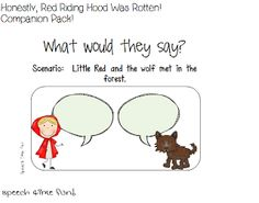 Speech Time Fun: Honestly, Red Riding Hood Was Rotten! Storybook Companion Pack!