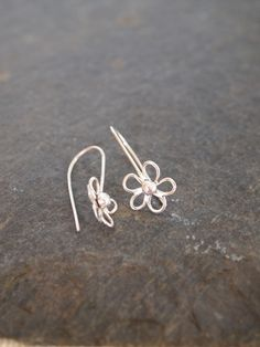 Sterling Silver Flower Drop Earrings £20.00
