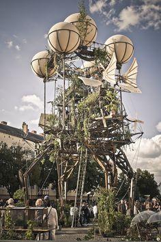 Aeroflorale II in Dessau, ein französisches Kunst- und Umweltprojekt...