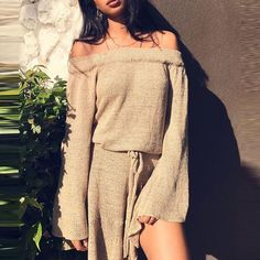 JustFashionNow Off Shoulder Women Fall Dress A-line Daily Dress Long Sleeve Casual Knitted Solid Dress Fall Dresses, Casual Dresses, Mini Dresses, Ladies Dresses, Dms Boutique, Off Shoulder Sweater, Shoulder Dress, Knit Sweater Dress, Dress Brands