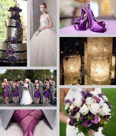 Purple and Grey...So beautiful.