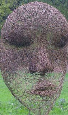 willow / wicker 'face' made by Artist Sara Holmes